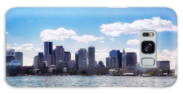Boston Skyline From Boston Harbor  Galaxy Case