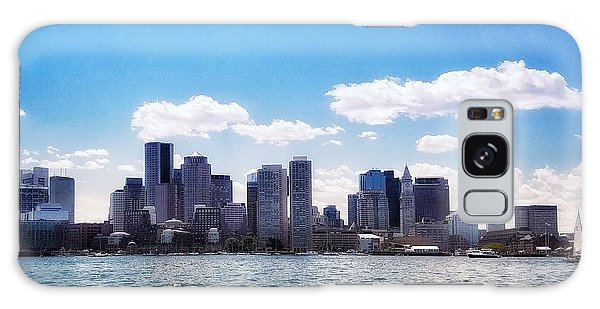 Boston Skyline From Boston Harbor  Galaxy Case