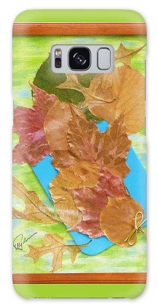 Bouquet From Fallen Leaves Galaxy Case