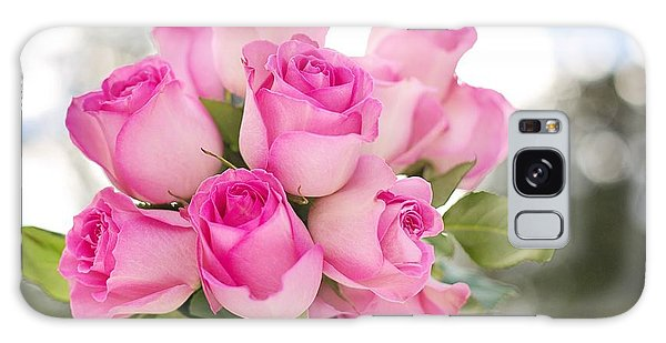 Bouquet Of Pink Roses Galaxy Case