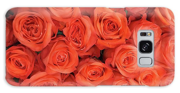 Bouquet Of The  Living Coral Roses Galaxy Case