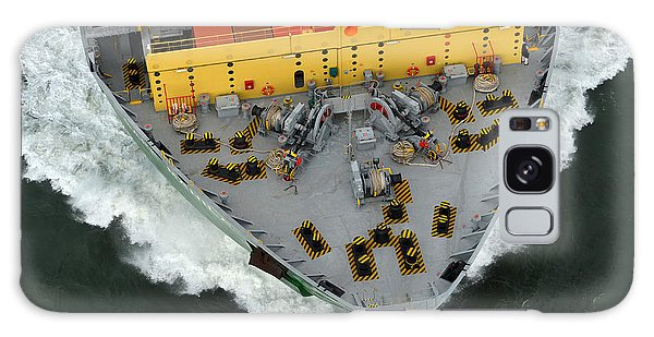 Shipping Galaxy Case - Bow Of Cargo Ship From Above by Jimmux