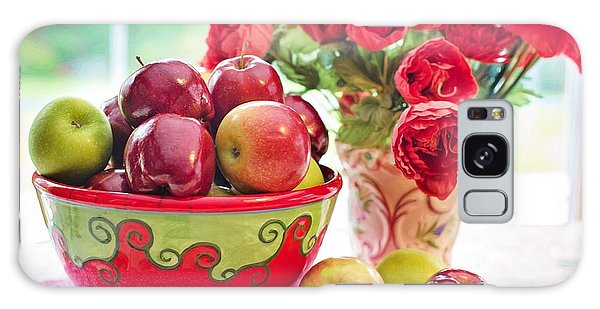 Bowl Of Red Apples Galaxy Case
