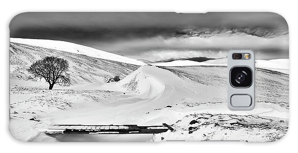 Cairngorms National Park Galaxy Case - Braemar Pass In Winter Monochrome by Tim Gainey