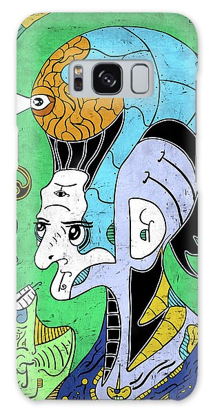 Galaxy Case featuring the digital art Brain-man by Sotuland Art