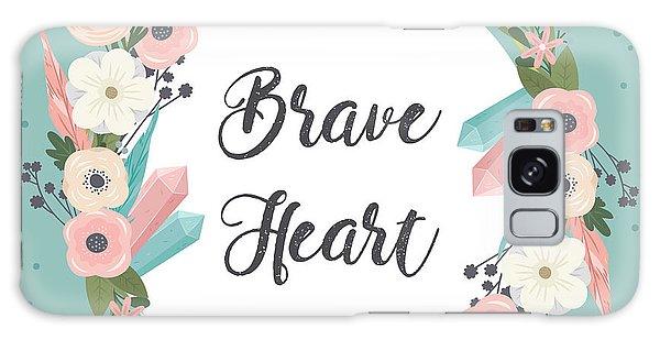 Brave Heart - Boho Chic Ethnic Nursery Art Poster Print Galaxy Case