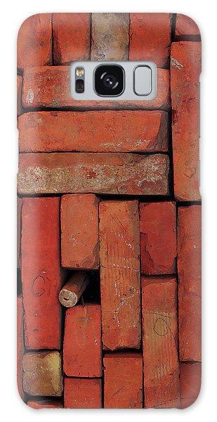 Galaxy Case featuring the photograph Bricks by Attila Meszlenyi