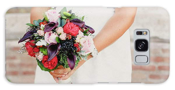 Bridal Bouquet Held By Her With Her Hands At Her Wedding Galaxy Case
