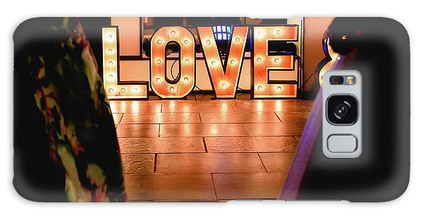 Bright Wooden Letters With Word Love In A Party Galaxy Case