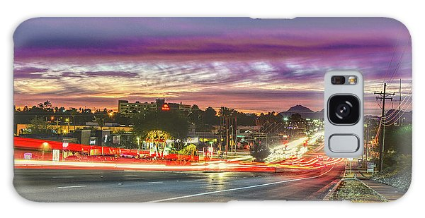 Broadway Sunset, Tucson, Az Galaxy Case