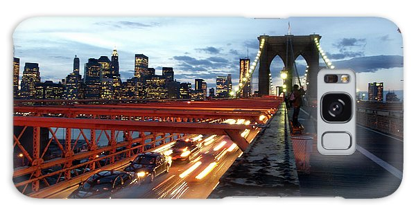 Galaxy Case featuring the photograph Brooklyn Bridge by Edward Lee
