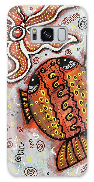 Brother Fish And Sister Starfish In Deep Conversation Galaxy Case