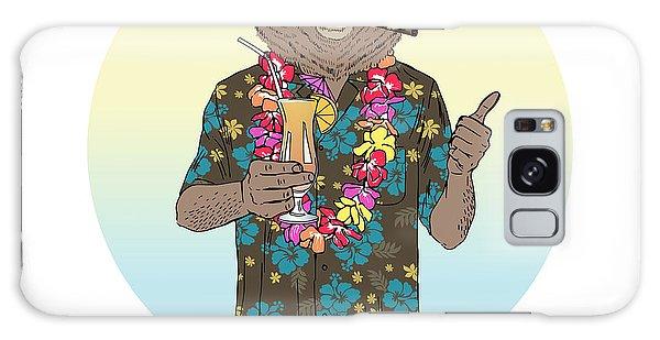 Furry Galaxy S8 Case - Brown Bear Dressed Up In Aloha Shirt by Olga angelloz