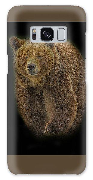 Brown Bear In Darkness Galaxy Case