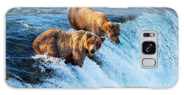Powerful Galaxy Case - Brown Bear On Alaska by Galyna Andrushko