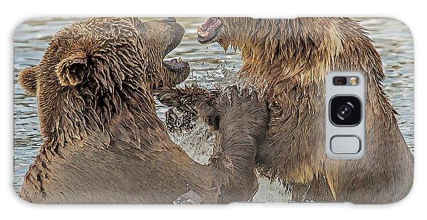 Brown Bears Fighting Galaxy Case