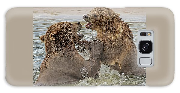 Brown Bears Fighting Galaxy Case