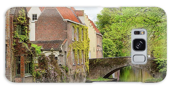 Bruges Footbridge Over Canal Galaxy Case