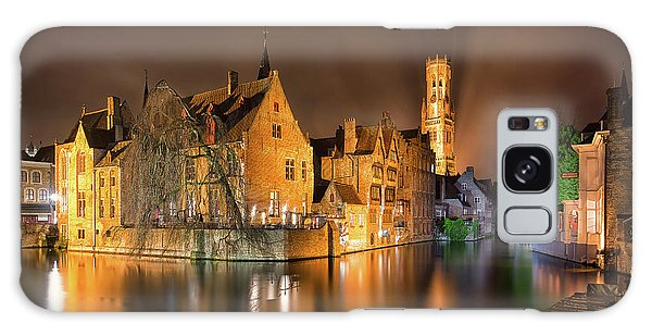 Galaxy Case featuring the photograph Brugge Belgium Belfry Night by Nathan Bush