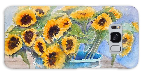 Bucket Of Sunflowers Galaxy Case