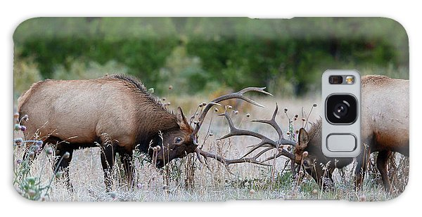Galaxy Case featuring the photograph Bull Elk Battle Rocky Mountain National Park by Nathan Bush