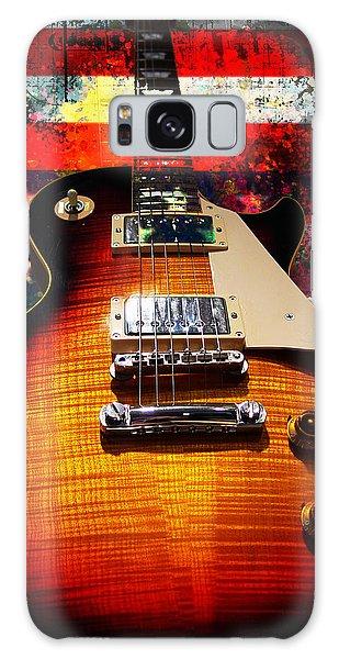 Burst Guitar American Flag Background Galaxy Case