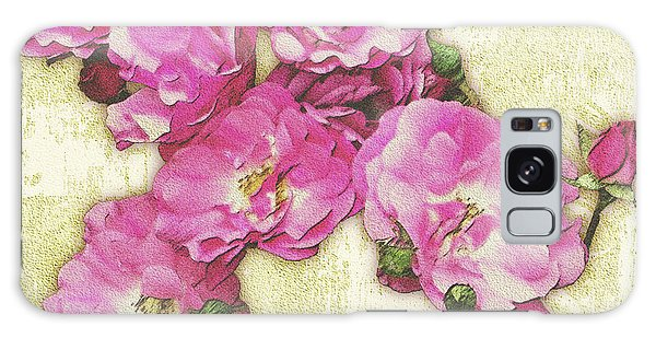 Bush Roses Painted On Sandstone Galaxy Case