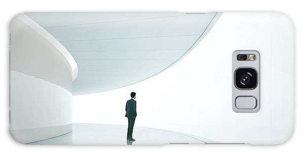 Success Galaxy Case - Businessman In Front Of Wide White by Sfio Cracho