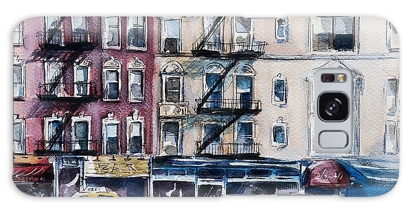 New York City Taxi Galaxy Case - Busy New York Street. Watercolor Sketch by Kamieshkova