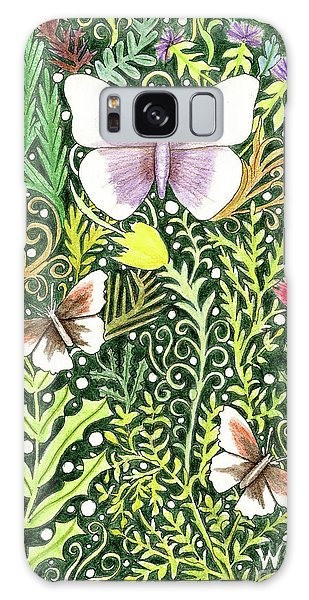 Butterflies In The Millefleurs Galaxy Case