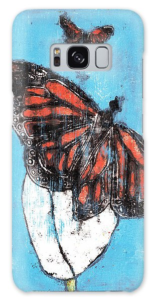 Butterfly Garden Summer 1 Galaxy Case