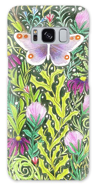 Butterfly In The Millefleurs Galaxy Case
