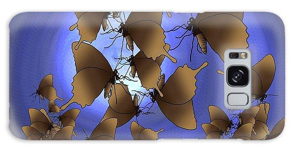 Galaxy Case - Butterfly Patterns 13 by Joan Stratton