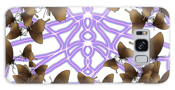 Galaxy Case - Butterfly Patterns 14 by Joan Stratton