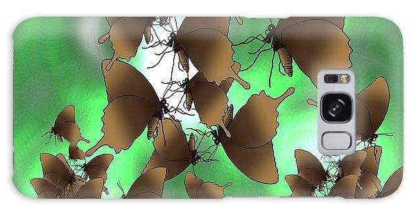 Galaxy Case - Butterfly Patterns 15 by Joan Stratton