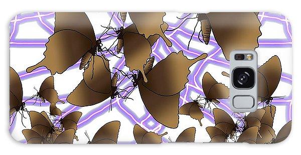 Galaxy Case - Butterfly Patterns 16 by Joan Stratton