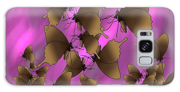 Galaxy Case - Butterfly Patterns 17 by Joan Stratton