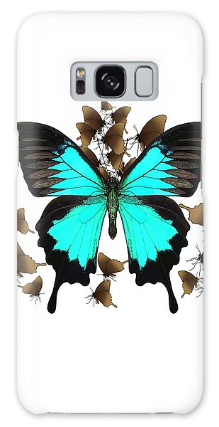 Ulysses Butterfly All A Flutter Galaxy Case