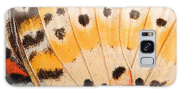Bright Colors Galaxy Case - Butterfly Wing Texture, Close Up Of by Wanchai