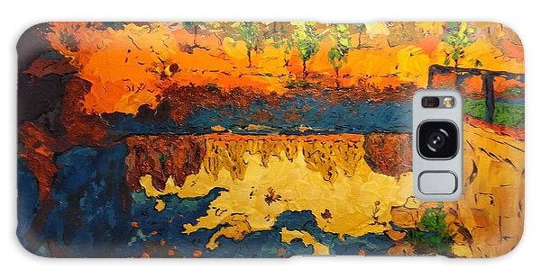 Galaxy Case featuring the painting By The Basin by Ray Khalife