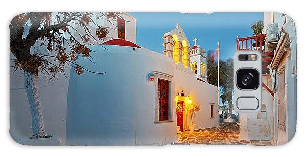 Travel Destinations Galaxy Case - Byzantine Church In A Street Of Mykonos by Milan Gonda