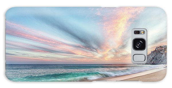 Galaxy Case featuring the photograph Cabo San Lucas Beach Wave Sunset by Nathan Bush
