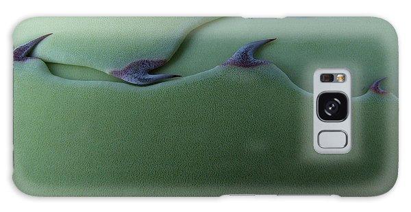 Desert Flora Galaxy Case - Cactus Leaf Pattern by Emily Goodwin