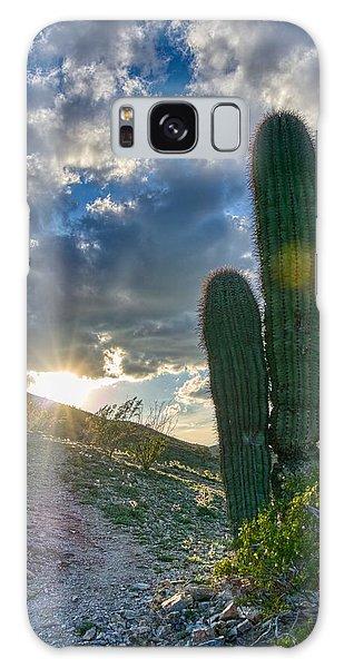 Cactus Portrait  Galaxy Case