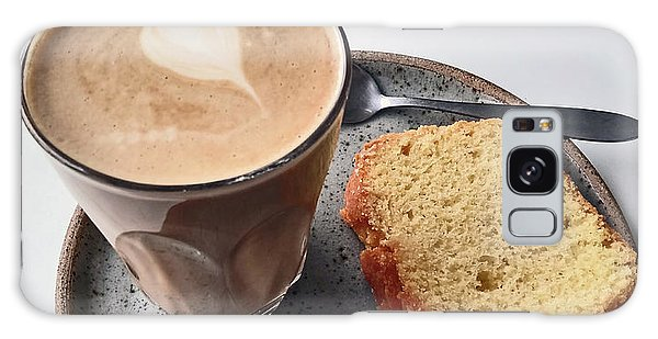 Cafe. Latte And Cake.  Galaxy Case