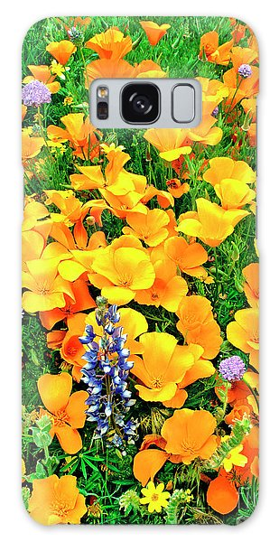 California Poppies And Betham Lupines Southern California Galaxy Case