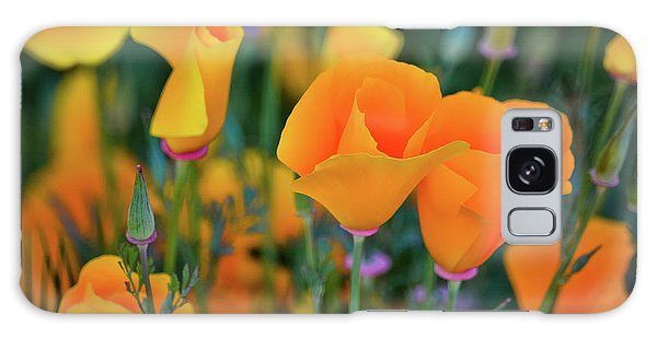 Galaxy Case featuring the photograph California Poppies Lake Elsinore by Kyle Hanson