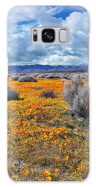 California Poppy Patch Galaxy Case