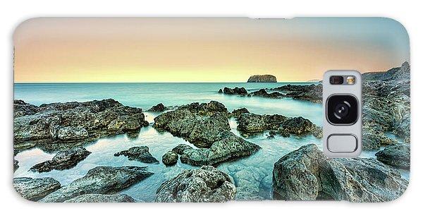 Calm Rocky Coast In Greece Galaxy Case