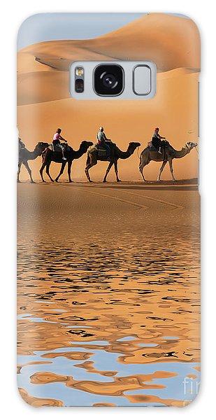 Caravan Galaxy Case - Camel Caravan Going Along The Lake The by Vladimir Wrangel